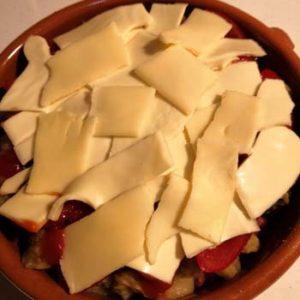 チーズ載せる